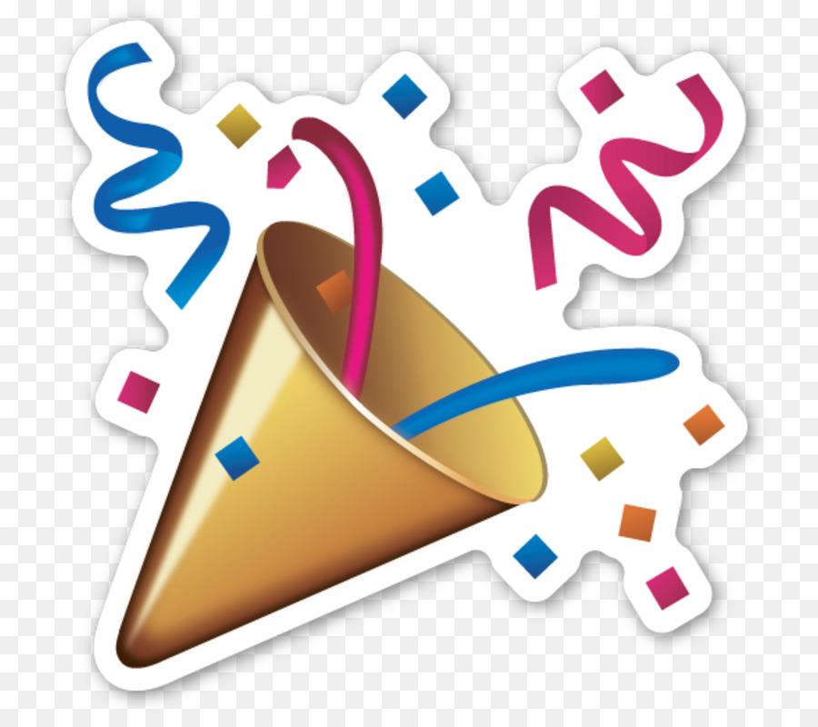 emoji sticker confetti party emoticon congrats