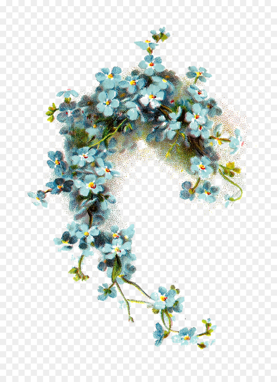Wedding invitation Flower Blue Vintage clothing Clip art - blue ...