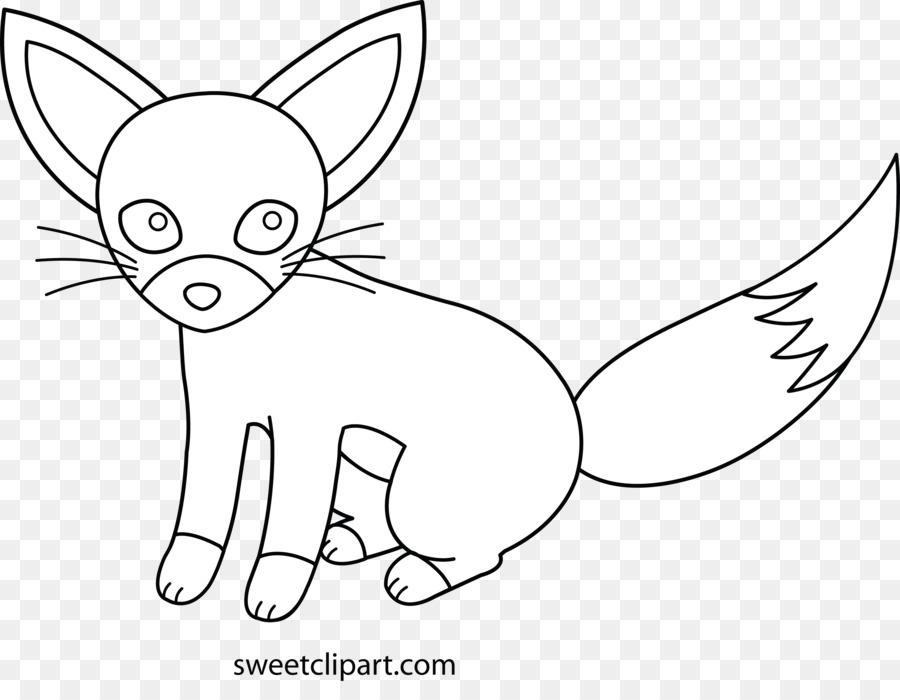 Zorro rojo Perro Gato de la Cola - fennec fox png dibujo ...
