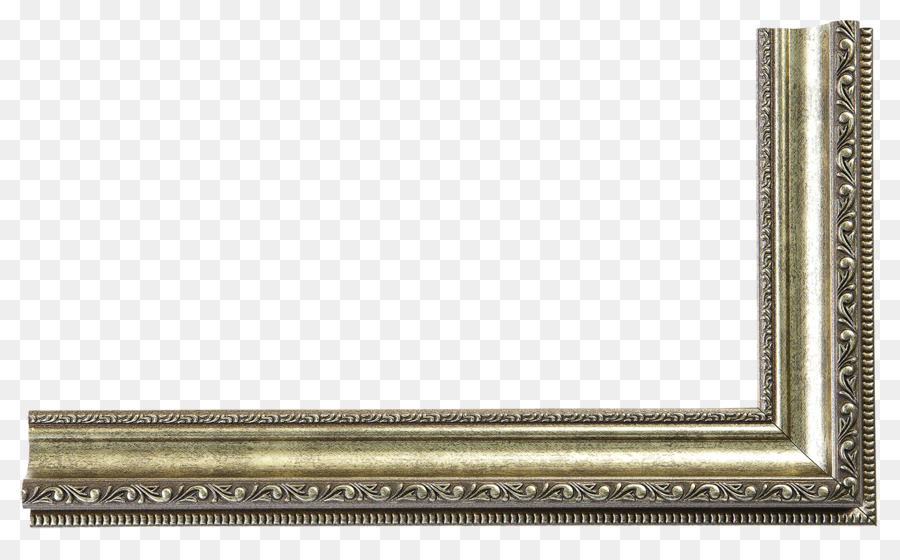 Brass Rectangle Metal Picture Frames - silver frame png download ...