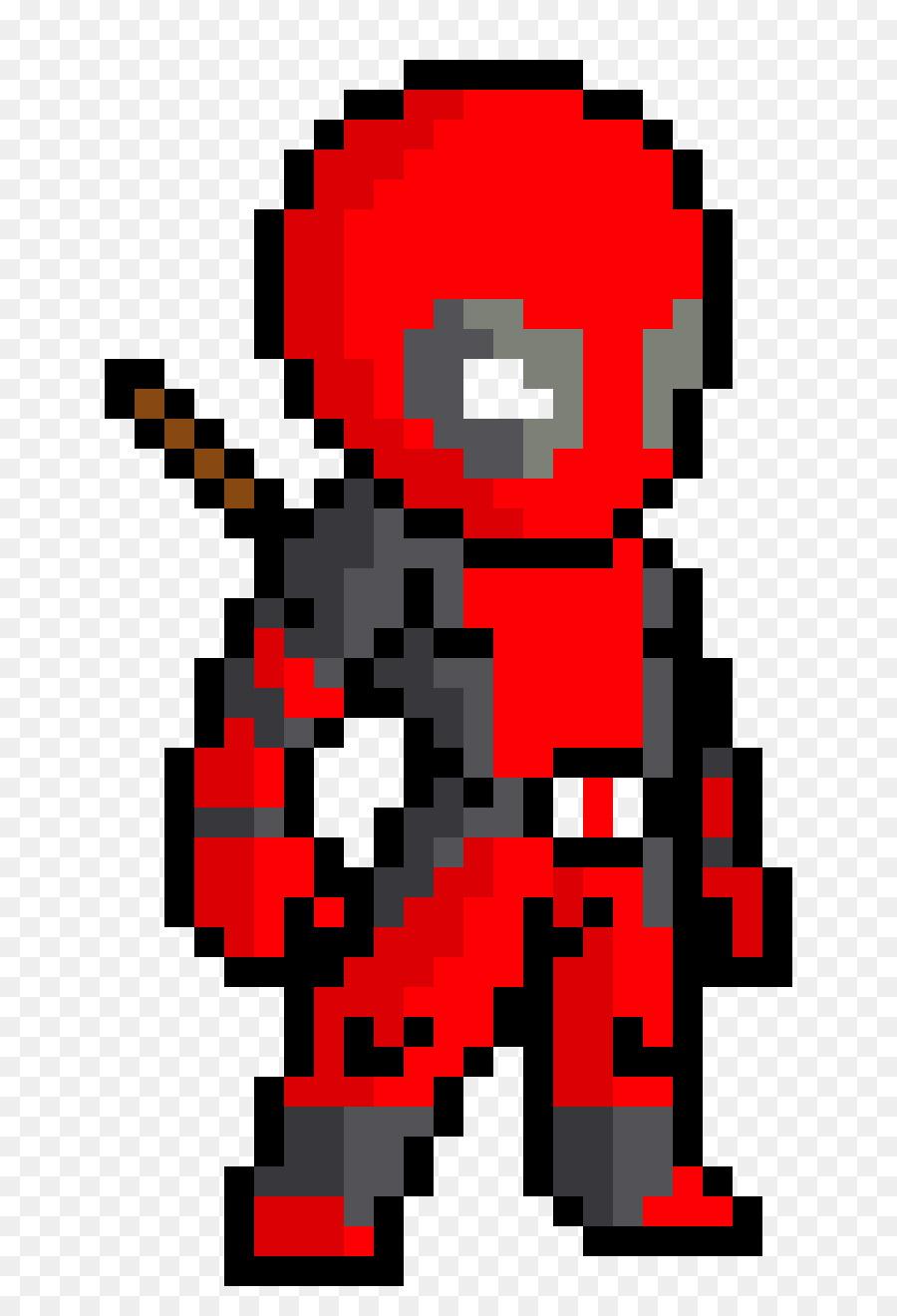 minecraft deadpool pixel art drawing pixel png download 810 1320
