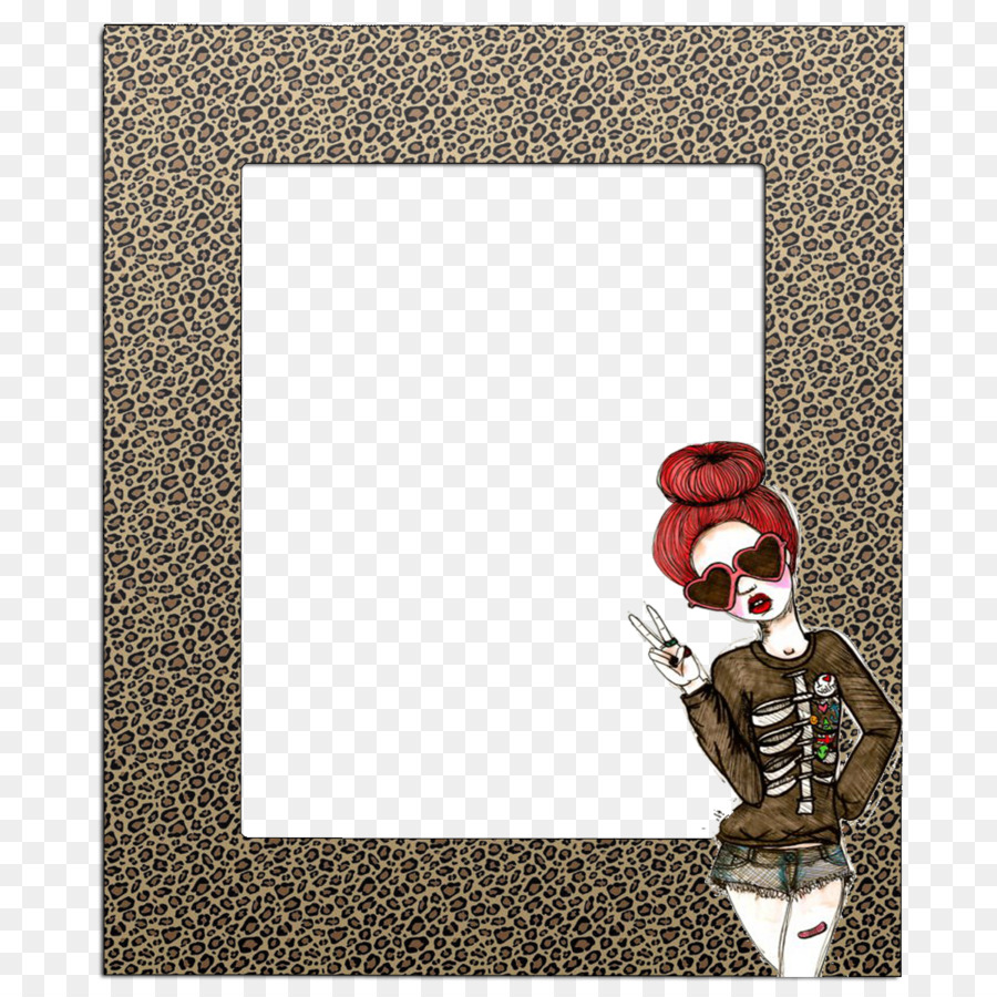 Picture Frames Cheetah Animal Print Frame Square Png