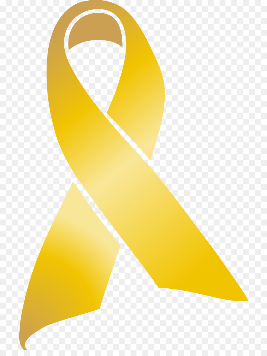 Awareness Ribbon Childhood Cancer Clip Art Gold Ribbon Png