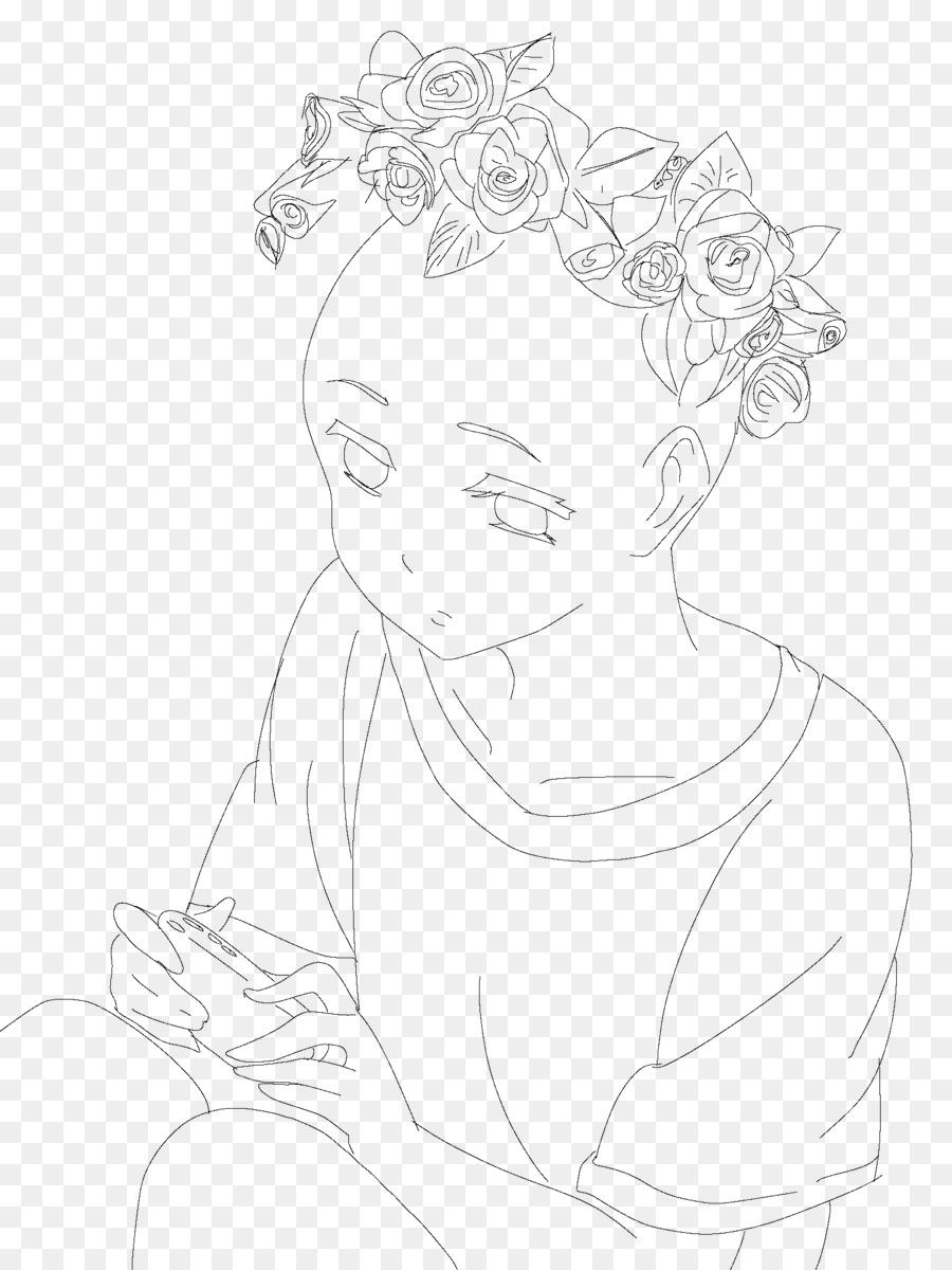 Drawing Line Art Sketch Flower Crown Png Download 15362048
