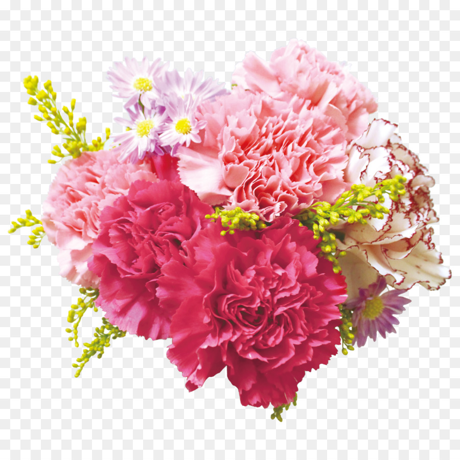 Flower Bouquet Carnation Floral Design Cut Flowers Pink Rose Png