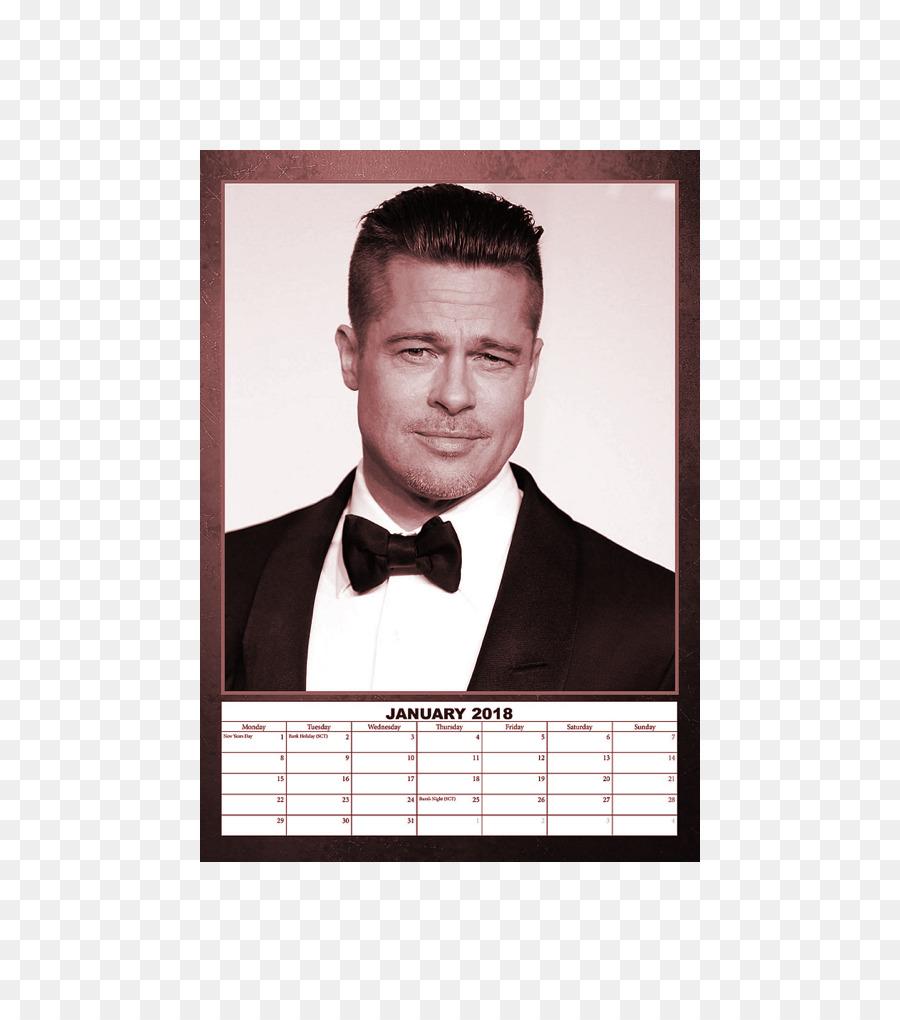 Brad Pitt Friends Calendar Celebrity Actor Brad Pitt Png Download