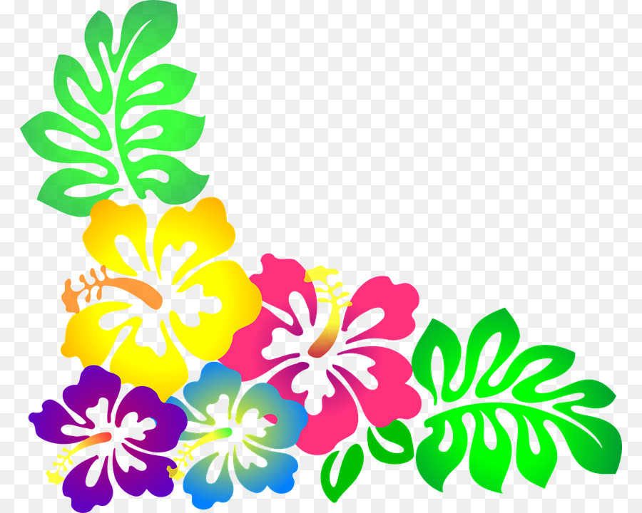 Hawaiian Borders and Frames Flower Clip art - moana png download ...