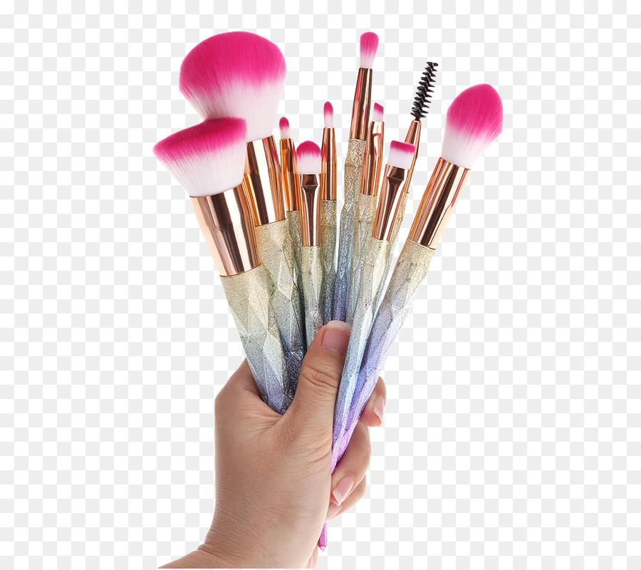 Makeup Brush Cosmetics Glitter Eye Shadow Makeup Png Download