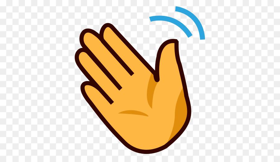 Hand-waving Wave Emoji Clip art - goodbye png download ...
