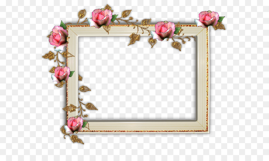 Picture Frames Rose Digital photo frame - rose border frame png ...