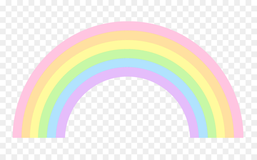 Pastel Rainbow Clip Art Gold Borders Png Download 38032352