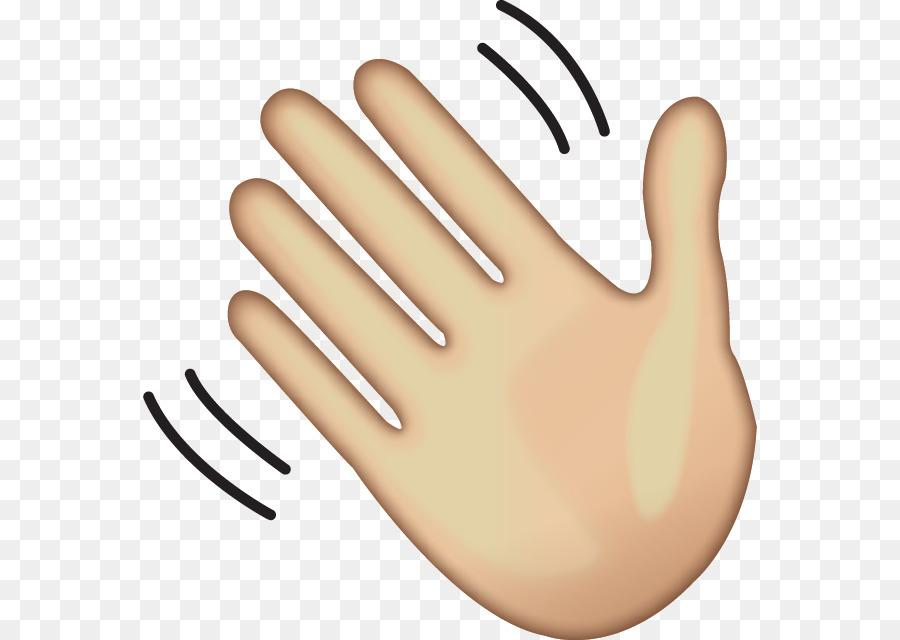 Wave Hand-waving Emoji Clip art - goodbye png download ...