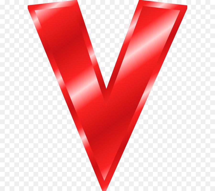 Letter Case Alphabet V Clip Art