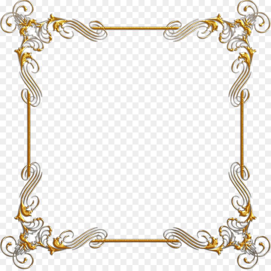 Gold Picture Frames Digital image Clip art - gold frames png ...
