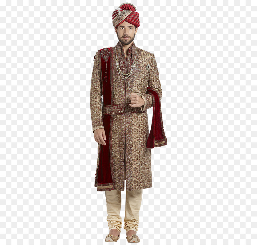 India Costume Clothing Sherwani Wedding Dress Groom Png Download