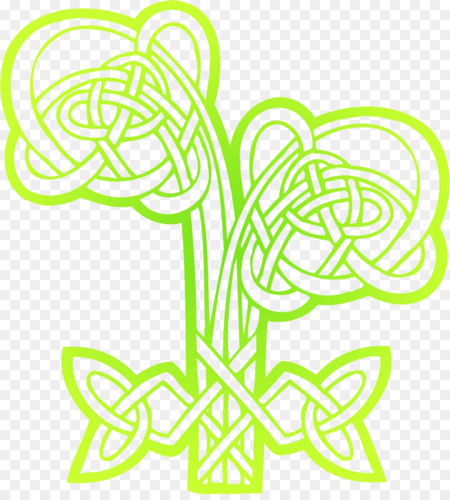 Celts Flower Ornament Clip Art