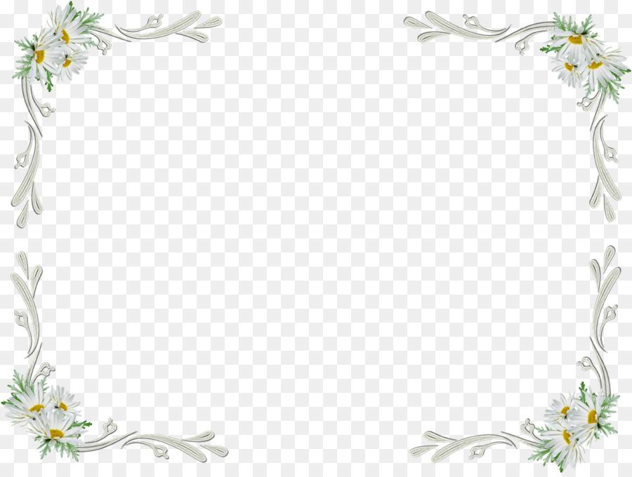White Flowers Frame Clip art - white flower png download - 900*675 ...