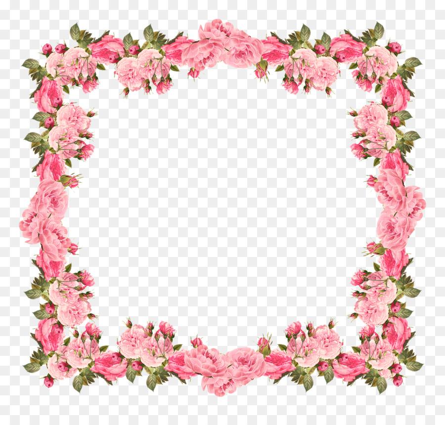 Wedding Invitation Baby Shower Flower Clip Art Rose Border Frame