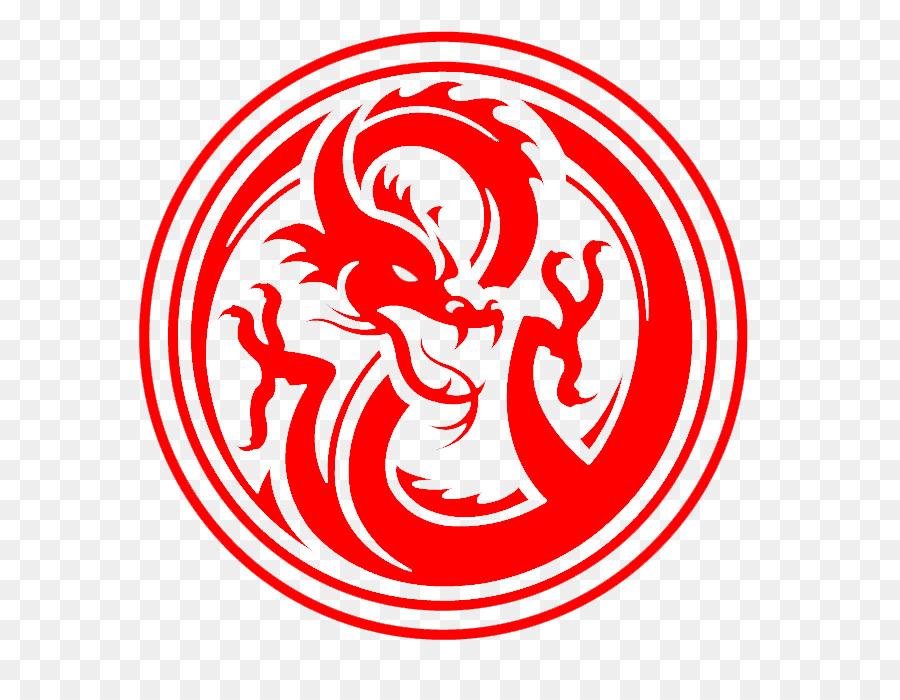 Logo Dragon Decal Chinese Dragon Png Download 704688 Free