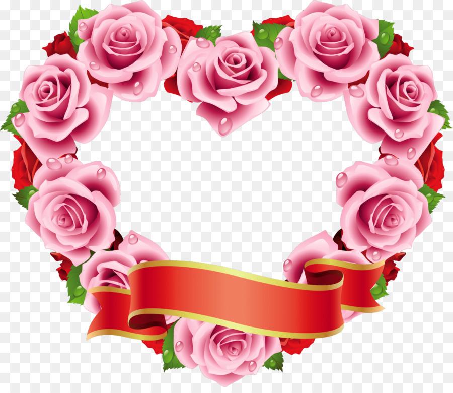 Rose flower heart wedding wreath png download 12661080 free rose flower heart wedding wreath mightylinksfo