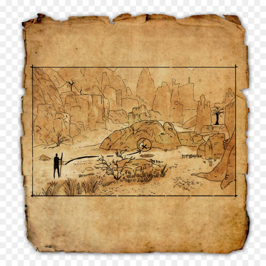 The Elder Scrolls Online Treasure Map World Map Treasure Png