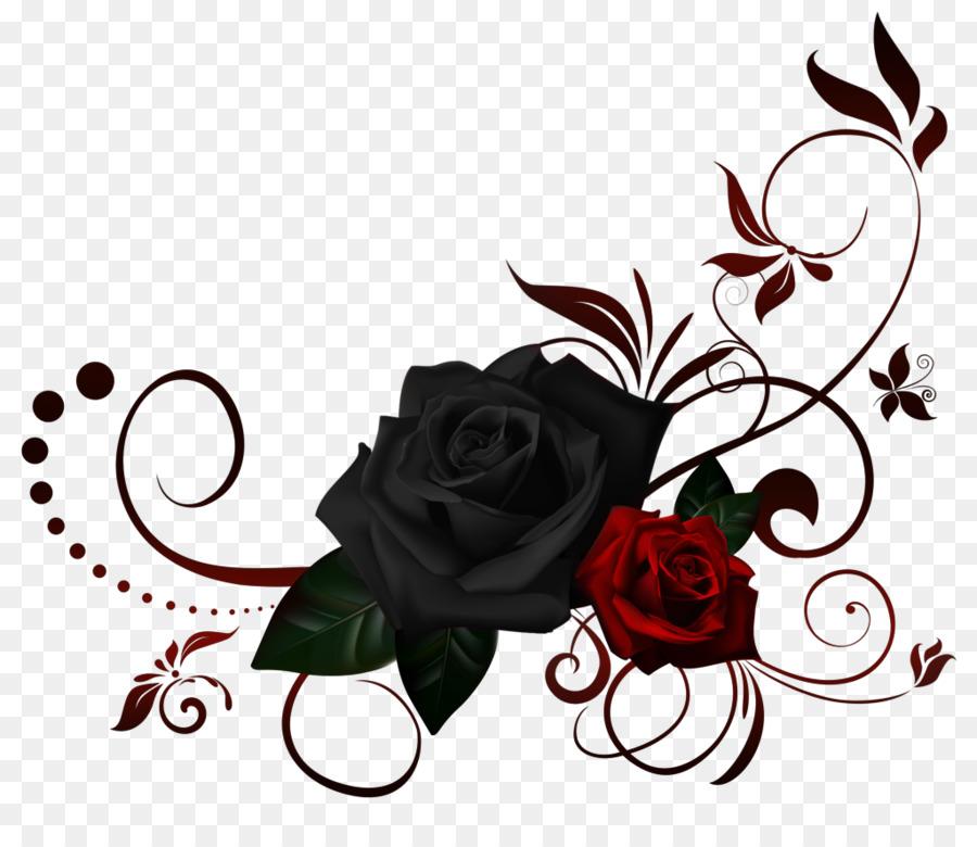 black rose flower clip art rose border png download