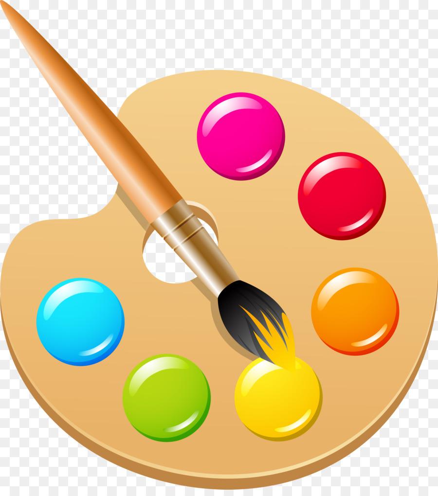 Pigment Color Ink brush Clip art - paint brush png ...