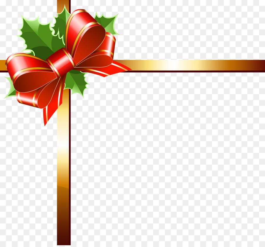 christmas ribbon gold clip art decorations
