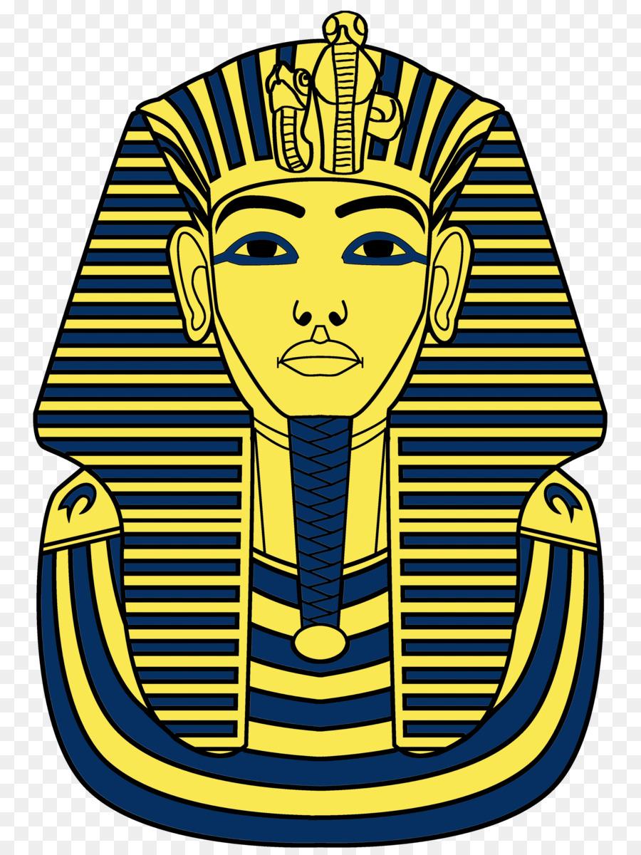 La máscara de tutankamón en el Antiguo Egipto para Colorear libro ...