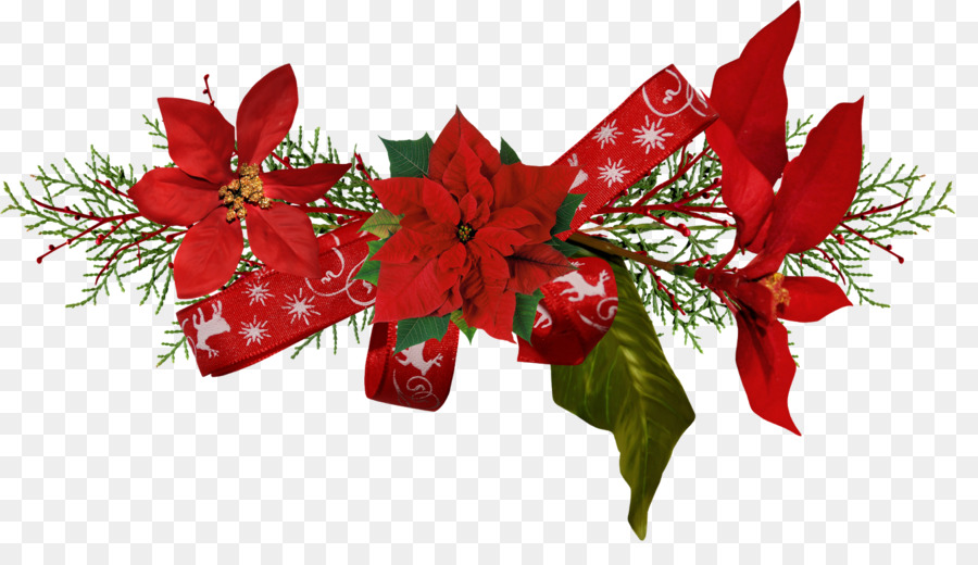 christmas flower poinsettia clip art decorations - Christmas Flower Decorations