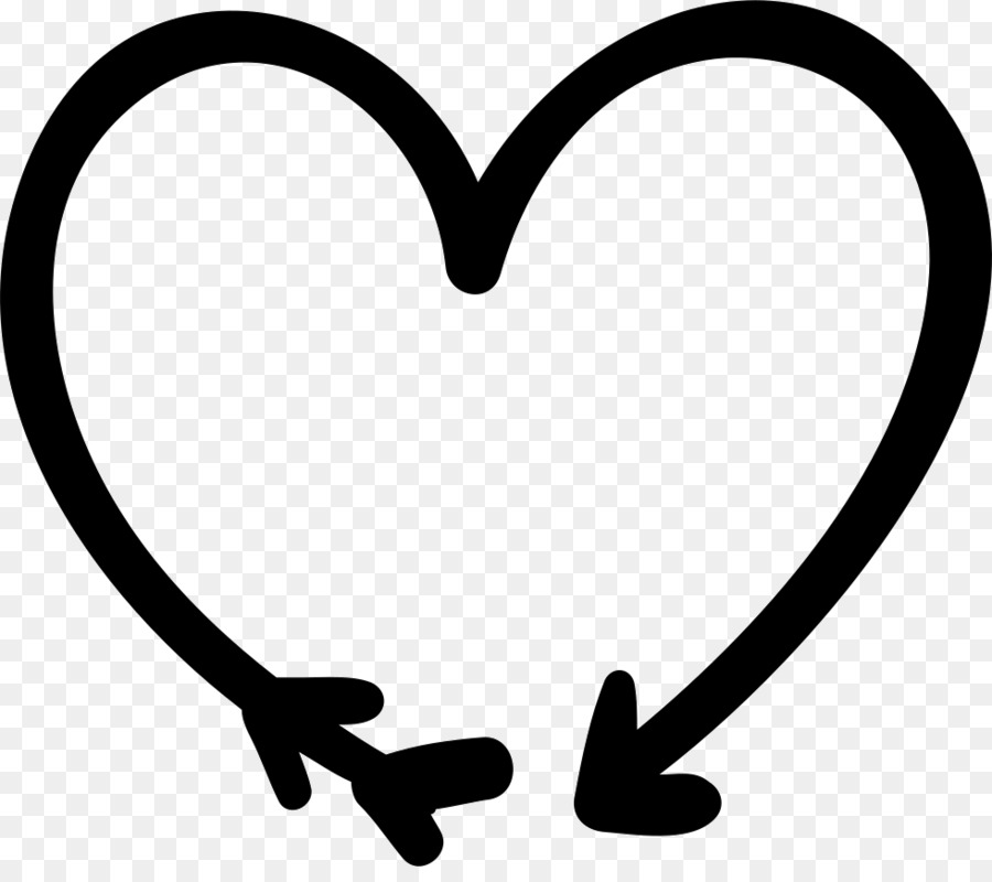 Heart Arrow Computer Icons Symbol Clip Art Doodle Png Download