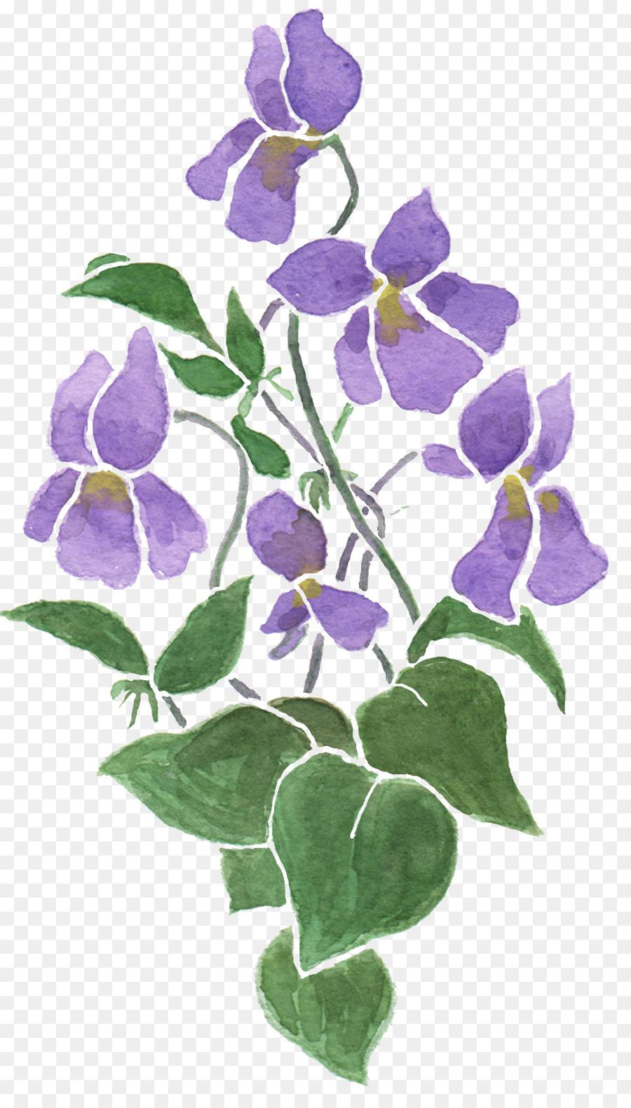 Cloth Napkins Sweet Violet Flower Drawing Violet Png Download