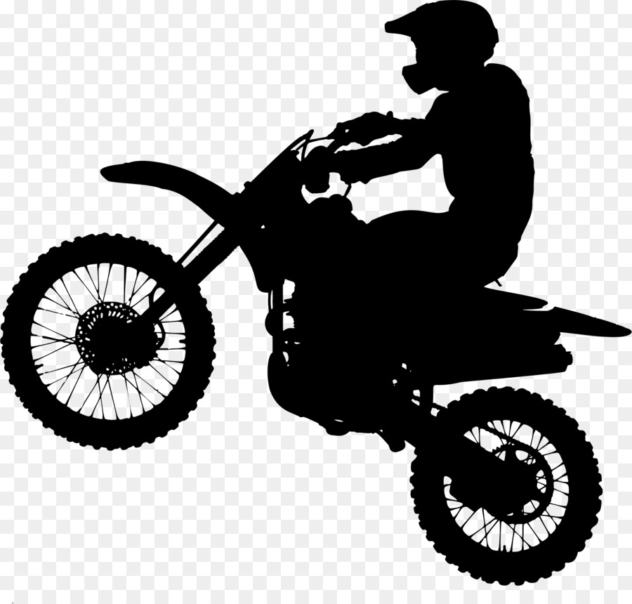2ea14c55 Motorcycle Silhouette Bicycle Motocross Clip art - dirt png download ...