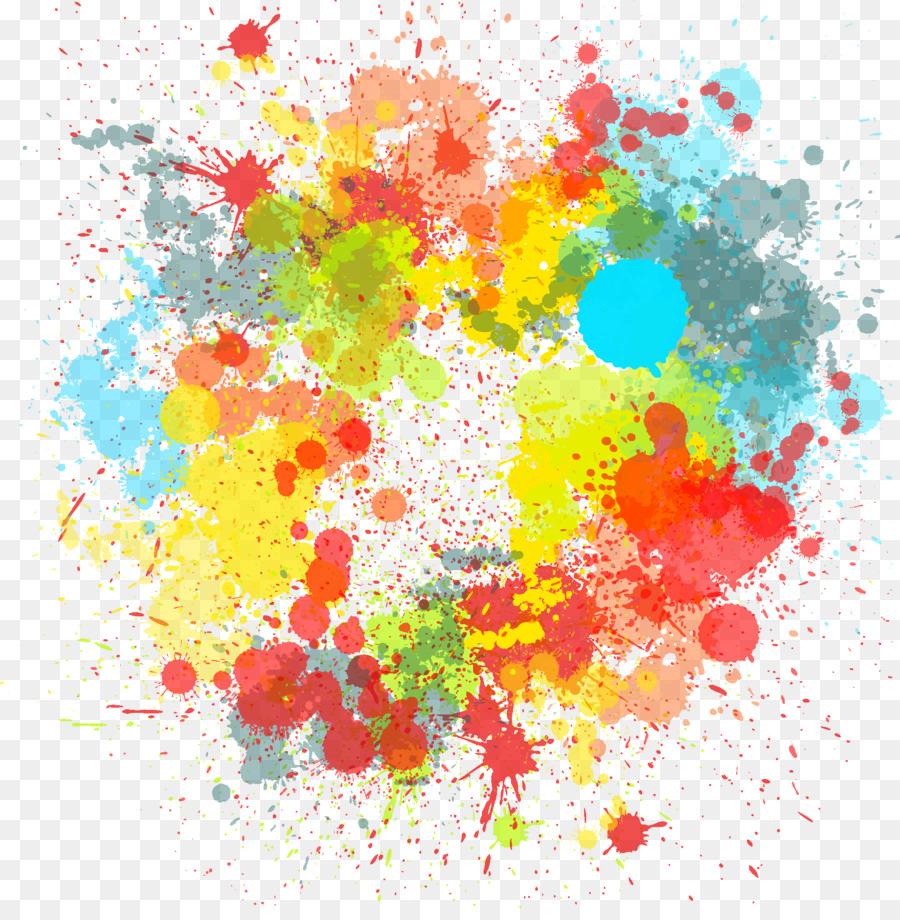 Desktop Wallpaper Color Paint - colorful png download - 1735*1750 ...