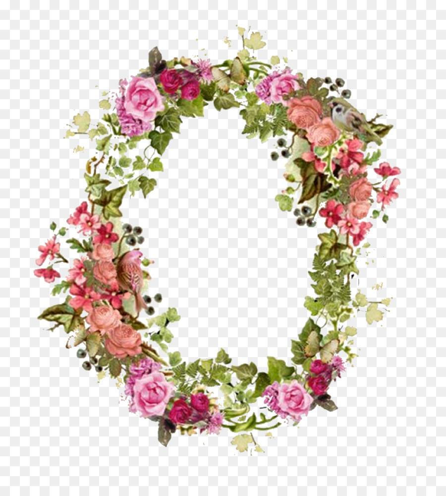 Flower Picture Frames Vintage Clip Art