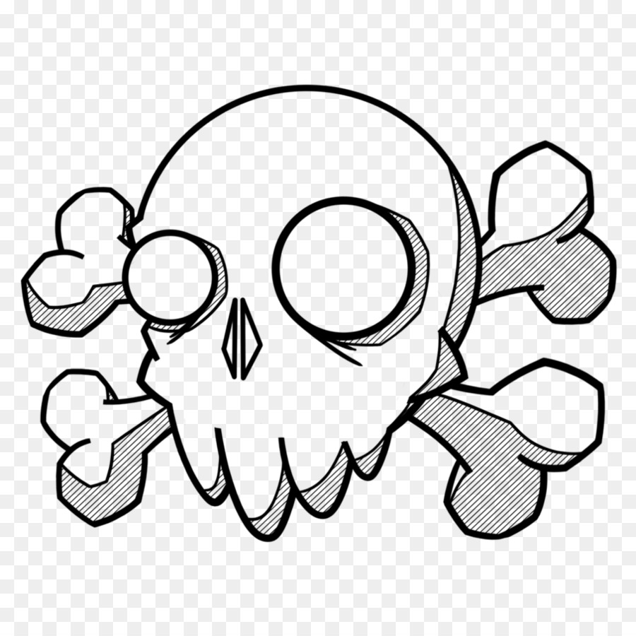 Doodle De Dibujo Del Tatuaje Del Arte De Cráneo - doodle Formatos De ...