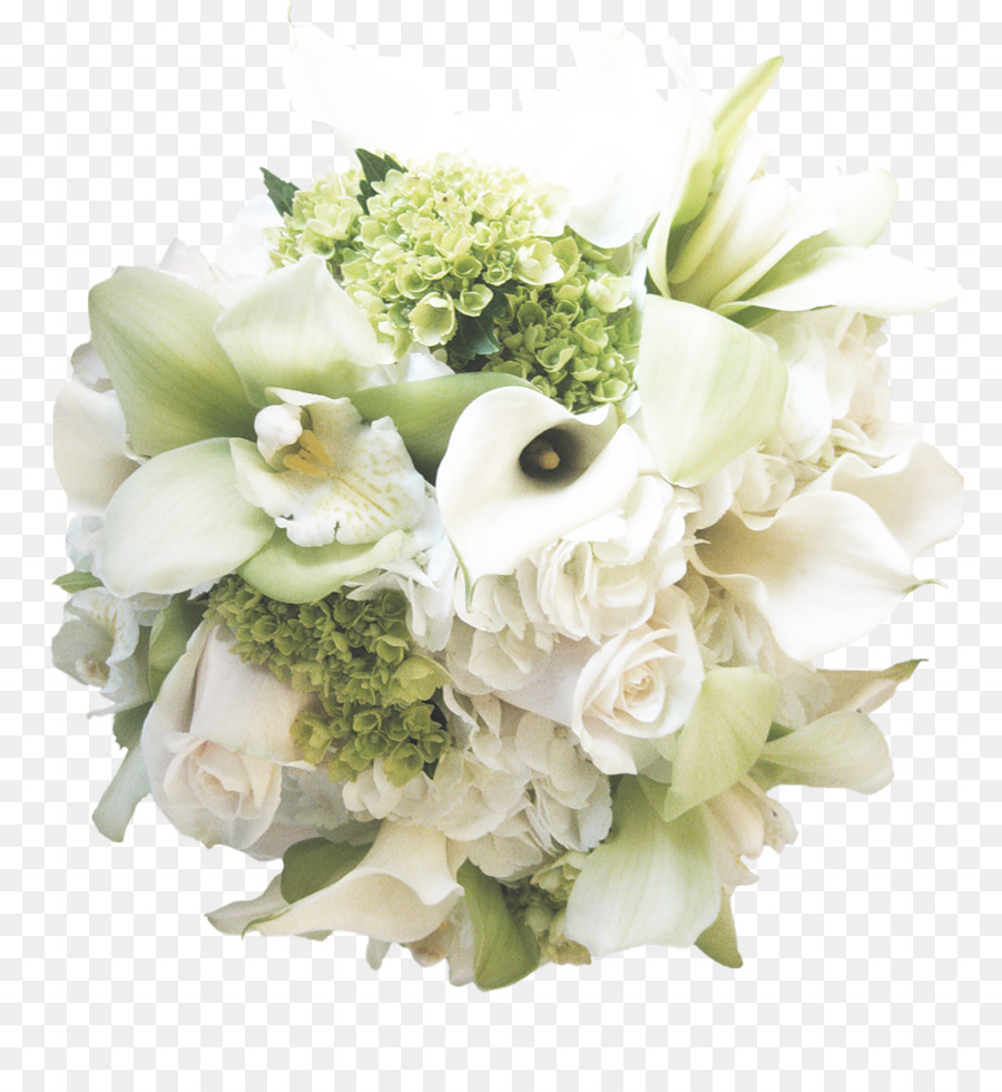 Flower Bouquet White Wedding Bride White Roses Png Download 943