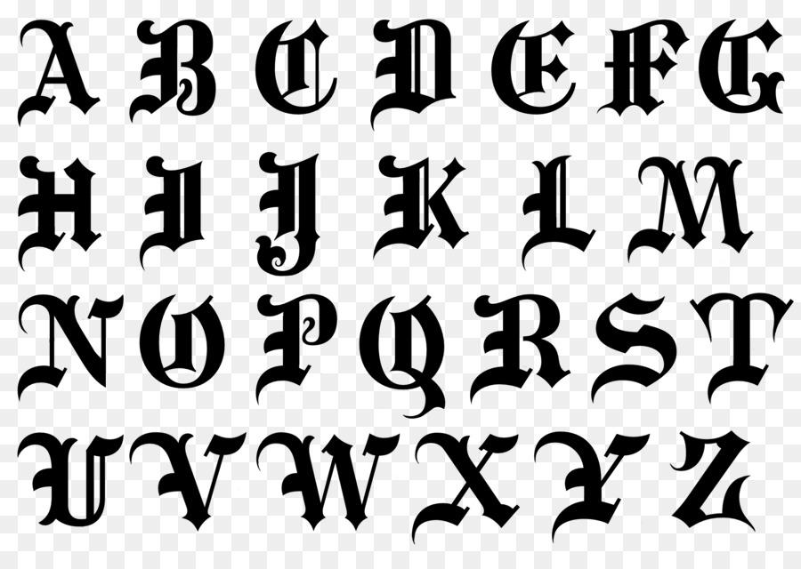 Alphabet Blackletter Script Typeface Cursive Font