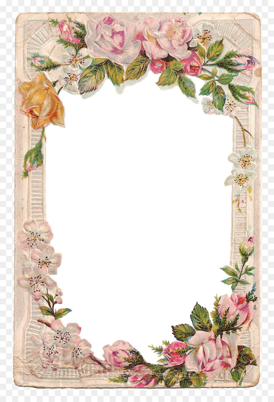 Borders and Frames Picture Frames Rose Flower Clip art - floral ...