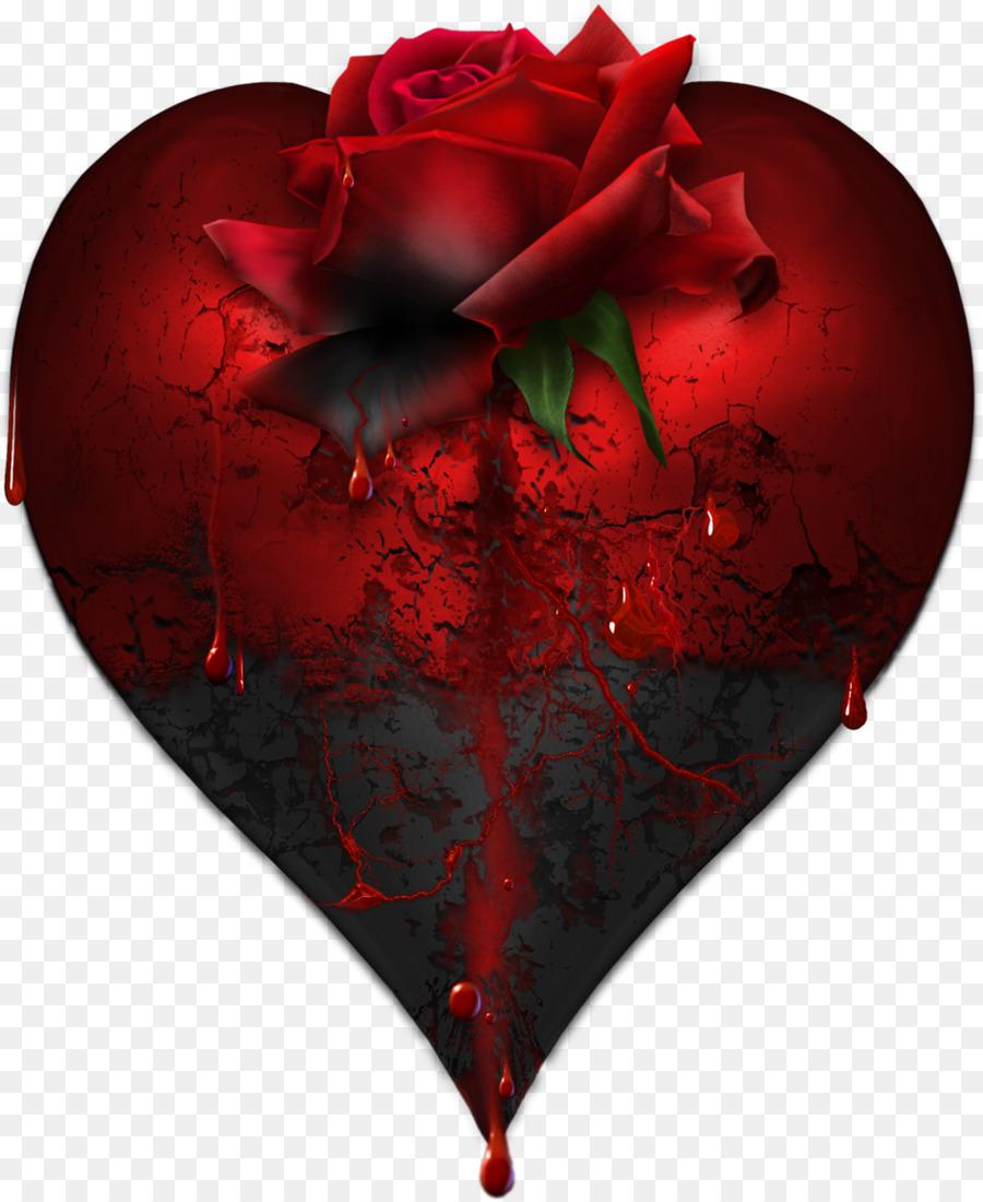 Heart Rose Blood Bleeding