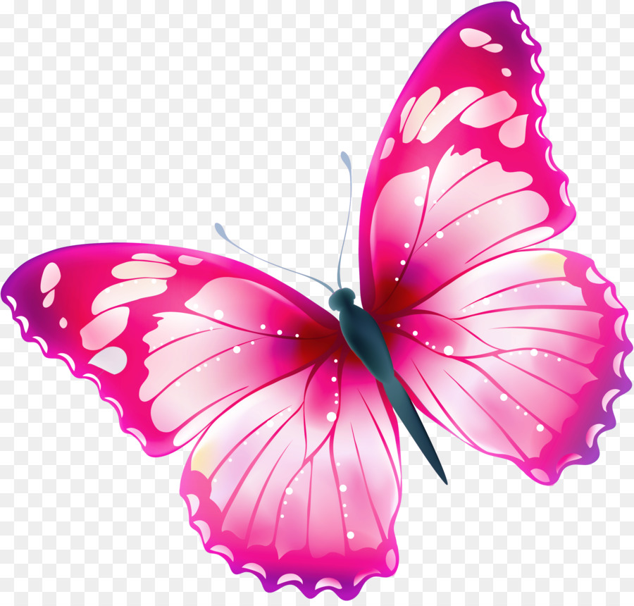 Butterfly Free Greta Oto Clip Art Spring Flowers Png Download
