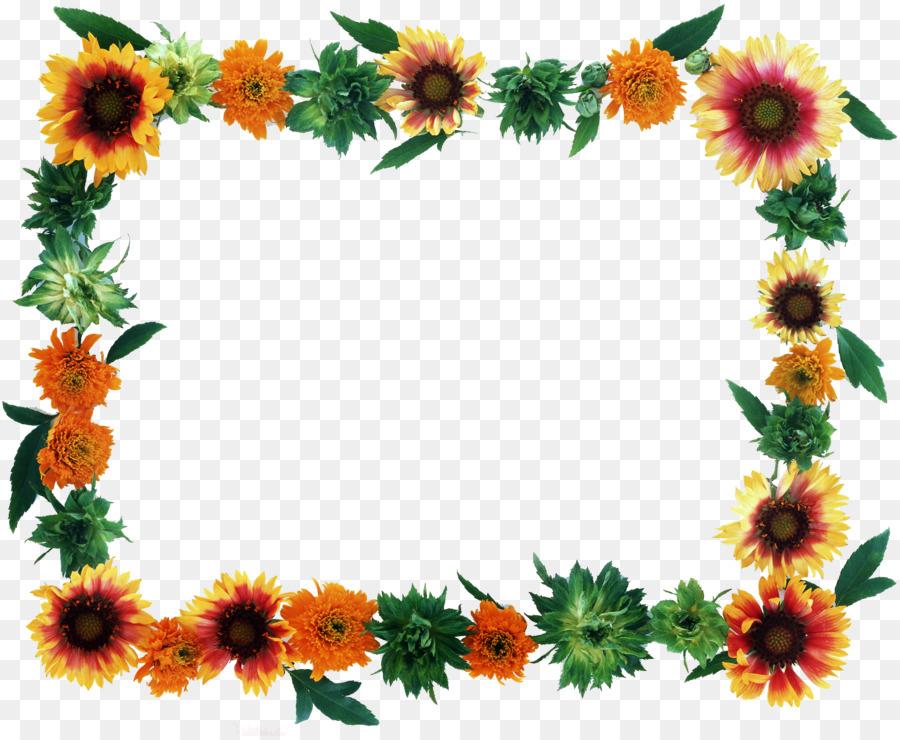 Flower Picture Frames - flower frame png download - 2503*2047 - Free ...