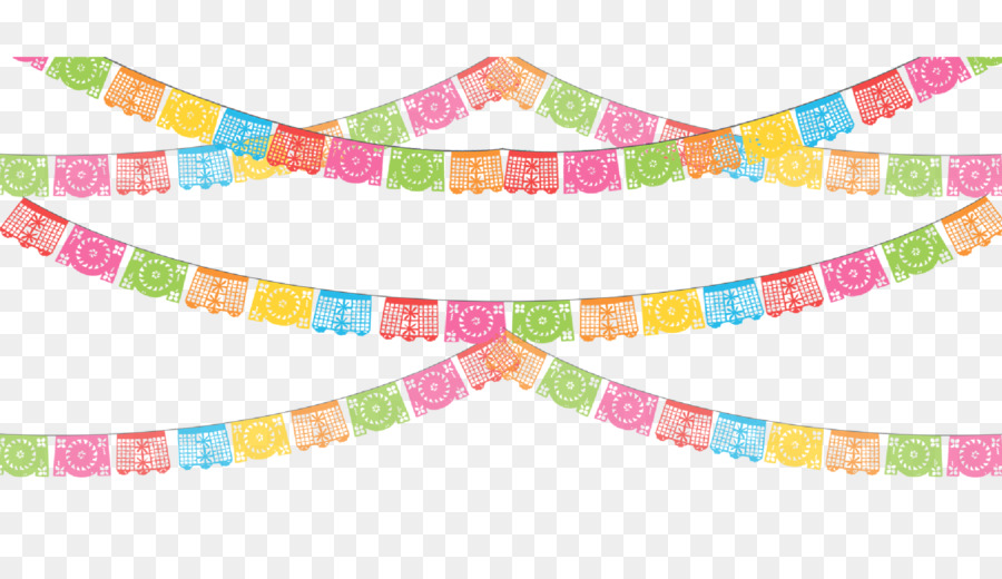 Paper Papel Picado Party Banner Clip Art