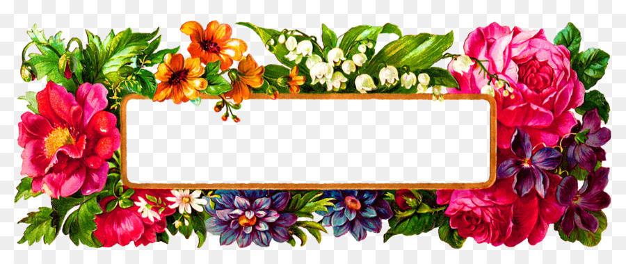Flower Picture Frames Label Digital image - floral frame png ...