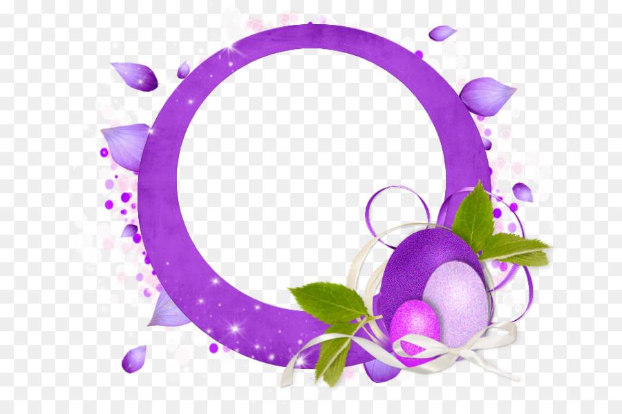Easter egg Picture Frames Purple - easter border png download - 725 ...