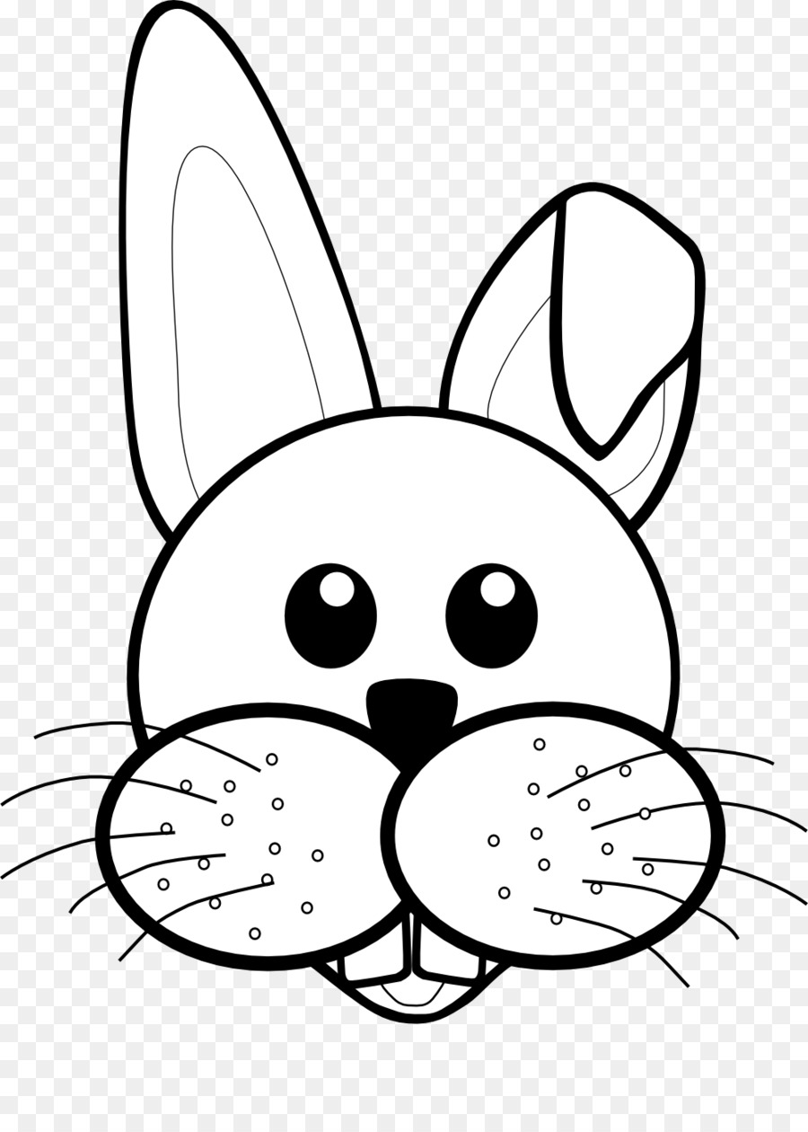easter bunny rabbit black and white clip art black and white png rh kisspng com