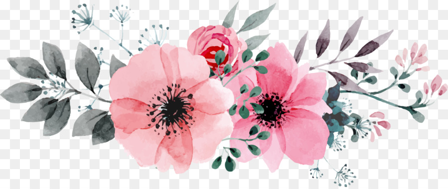 Flowers Vector Drawing Png: Watercolour Flowers Drawing