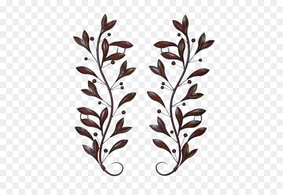 Wall Decal Metal Leaf Decor Png Download 610610 Free