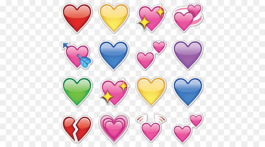 Emoji Heart Iphone Emoticon Symbol Emojis Png Download 500500