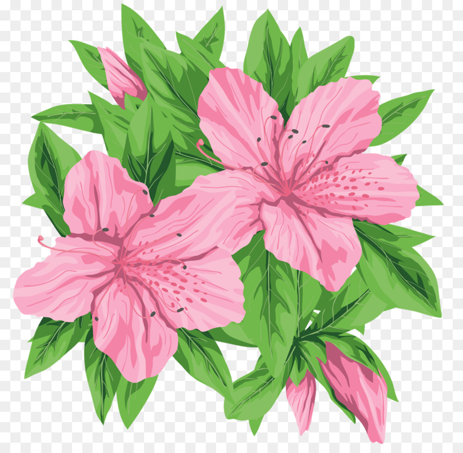Pink Flowers Desktop Wallpaper Clip Art Green Flowers Png Download